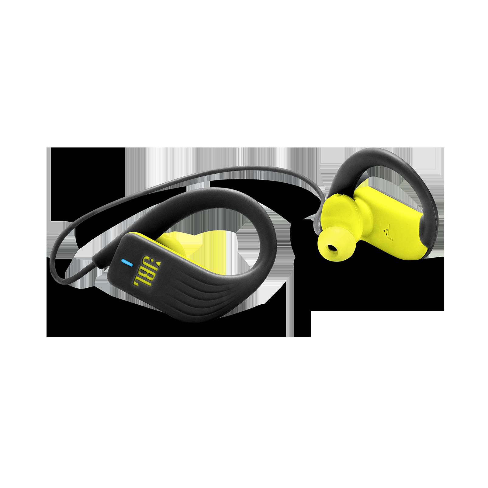 JBL Endurance SPRINT - Yellow - Waterproof Wireless In-Ear Sport Headphones - Detailshot 1