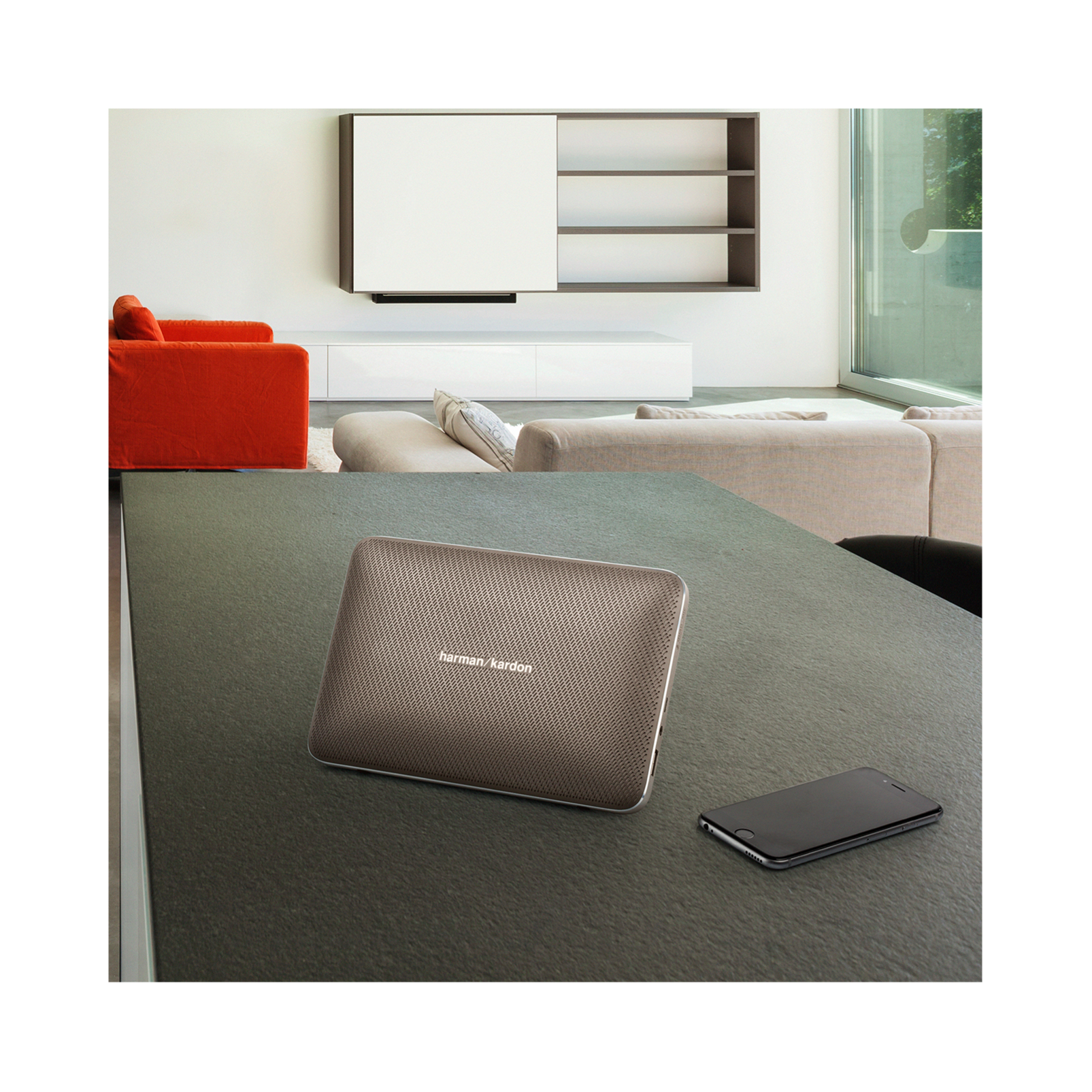 Esquire 2 - Black - Premium portable Bluetooth speaker with quad microphone conferencing system - Detailshot 7