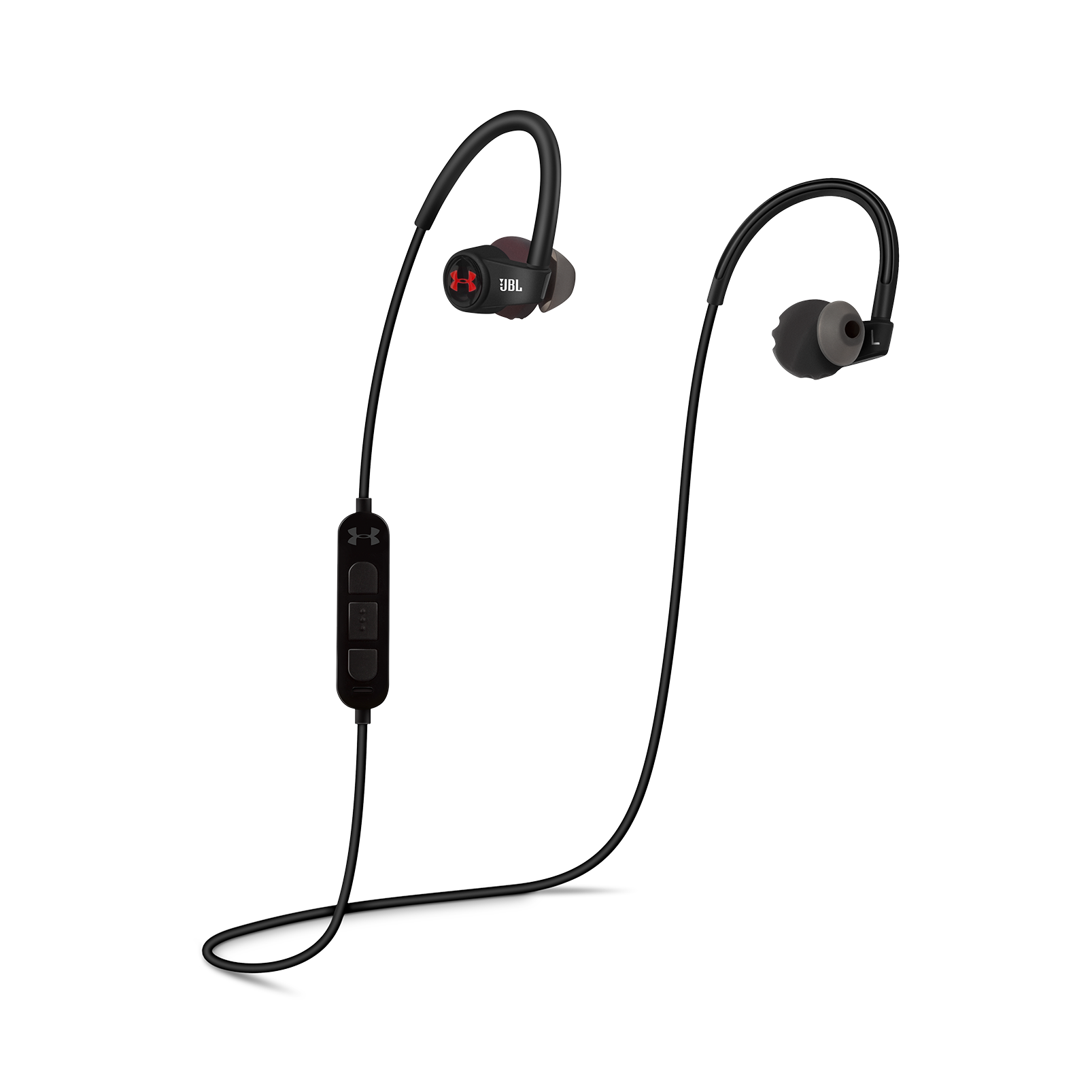 China:- - Black - Heart rate monitoring, wireless in-ear headphones for athletes - Detailshot 1