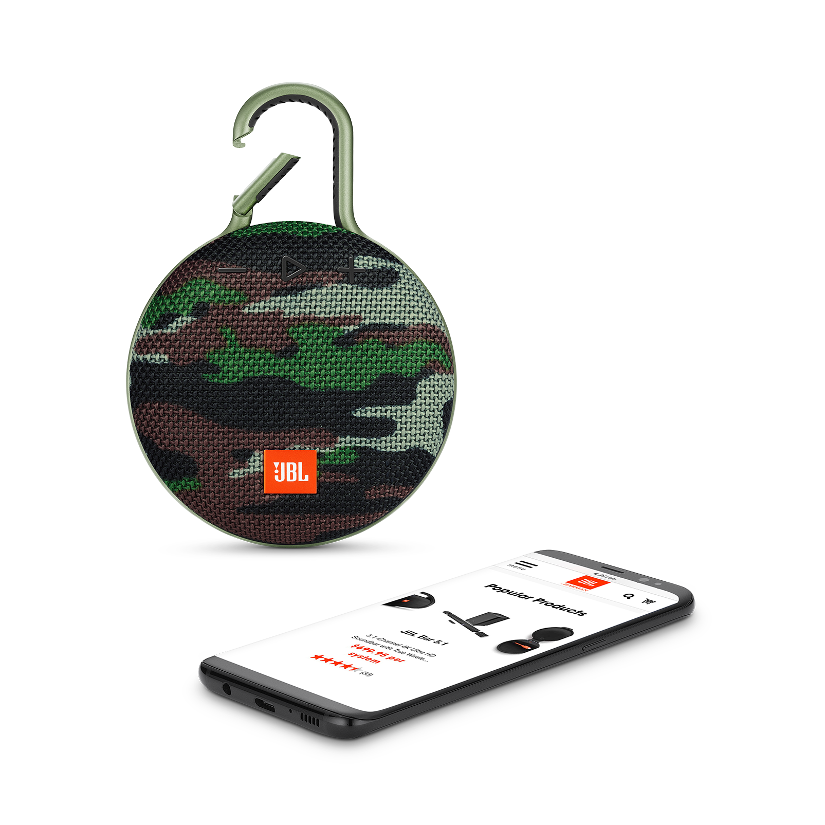 JBL CLIP 3 - Squad - Portable Bluetooth® speaker - Front